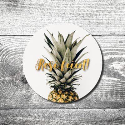 kartlerei bierdeckel drucken einladung geburtstag ananas 400x400 - Bierdeckel Ananas feiert