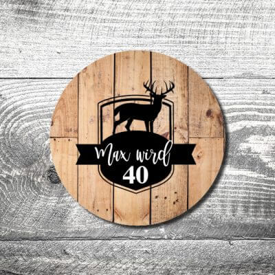 kartlerei bierdeckel drucken einladung geburtstag hirschlogo 400x400 - Bierdeckel Hirschlogo