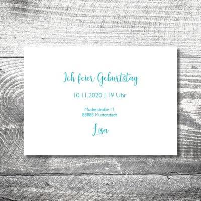 kartlerei karten drucken einladungskarte geburtstag geburtstagseinladung drucken gestalten10 400x400 - Bronze | 2-Seitig | ab 0,70 €