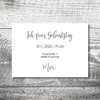 kartlerei karten drucken einladungskarte geburtstag geburtstagseinladung drucken gestalten18 400x400 - Alpen | 2-Seitig | ab 0,70 €