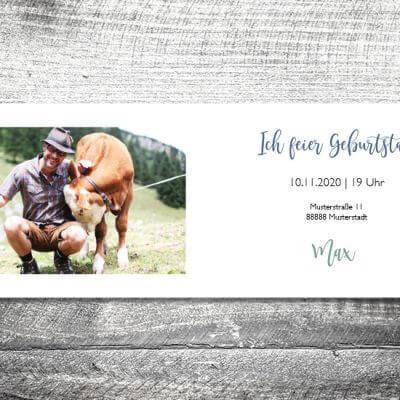 kartlerei karten drucken einladungskarte geburtstag geburtstagseinladung drucken gestalten19 400x400 - Alpen | 4-Seitig | ab 1,00 €