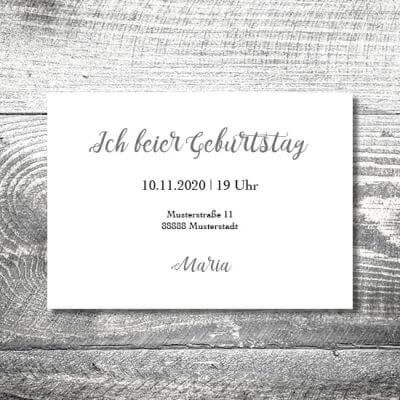 kartlerei karten drucken einladungskarte geburtstag geburtstagseinladung drucken gestalten26 400x400 - Filigran | 2-Seitig | ab 0,70
