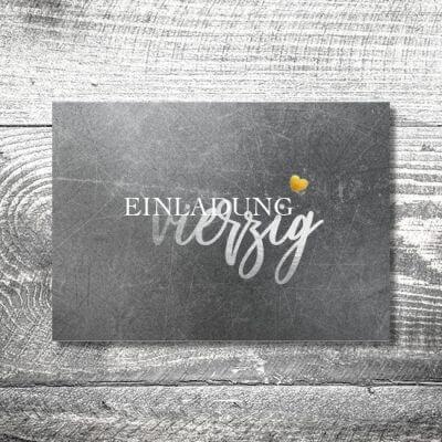 kartlerei karten drucken einladungskarte geburtstag geburtstagseinladung drucken gestalten29 400x400 - Silbergold | 2-Seitig | ab 0,70 €