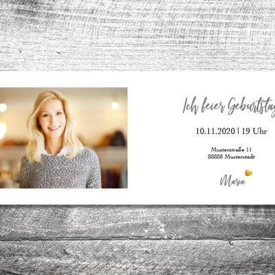 kartlerei karten drucken einladungskarte geburtstag geburtstagseinladung drucken gestalten31 1 400x400 - Silbergold | 4-Seitig | ab 1,00 €