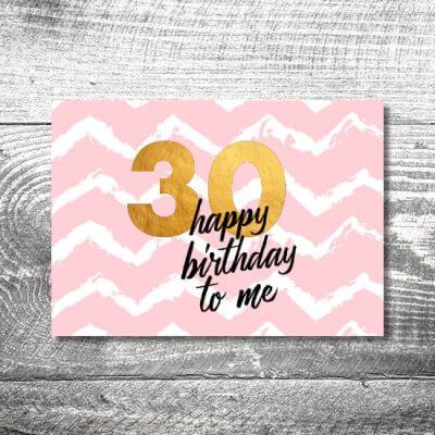 kartlerei karten drucken einladungskarte geburtstag geburtstagseinladung drucken gestalten45 400x400 - Happy Birthday to me | 2-Seitig | ab 0,70