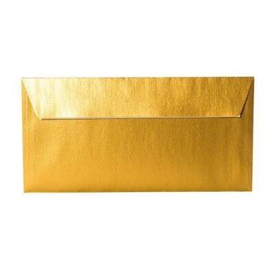 kartlerei karten drucken einladungskarten hochzeit briefumschlaege gold DINlang 400x400 - Umschläge DIN lang 110 x 220 mm – Gold mit Haftstreifen