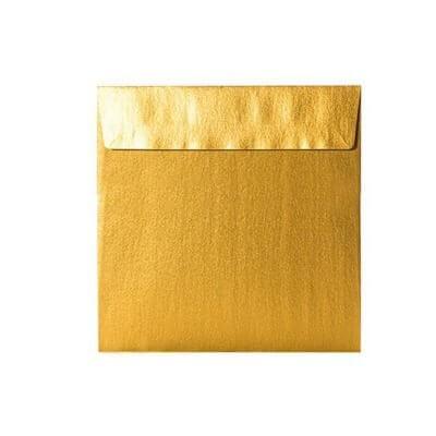 kartlerei karten drucken einladungskarten hochzeit briefumschlaege gold quadratisch 400x400 - Umschläge Quadratisch 155 x 155 mm – Gold mit Haftstreifen