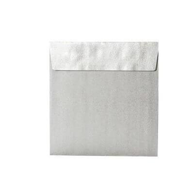 kartlerei karten drucken einladungskarten hochzeit briefumschlaege quadratisch silber 400x400 - Umschläge Quadratisch 155 x 155 mm – Silber mit Haftstreifen