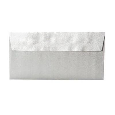 Umschläge DIN lang 110 x 220 mm – Silber mit Haftstreifen