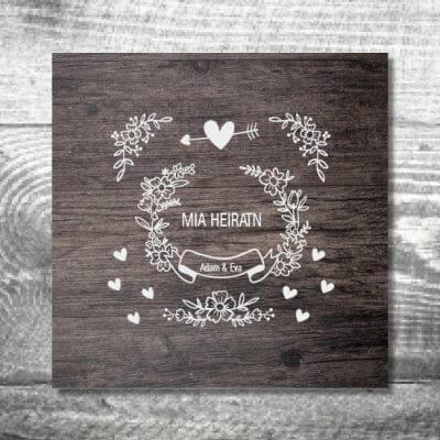 kartlerei karten drucken hochzeit einladung vintage 400x400 - Hochzeit Vintage | 6-Seitig | ab 1,90 €