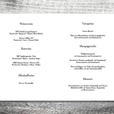 kartlerei karten drucken hochzeit heiraten menue menuekarte floralhirsch 2 3 400x400 - Menükarte Blümchen