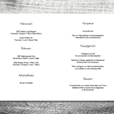 kartlerei karten drucken hochzeit heiraten menue menuekarte hochzeitspaar 2 3 400x400 - Menükarte Hochzeitspaar