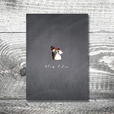 kartlerei karten drucken hochzeit heiraten menue menuekarte hochzeitspaar 400x400 - Menükarte Hochzeitspaar