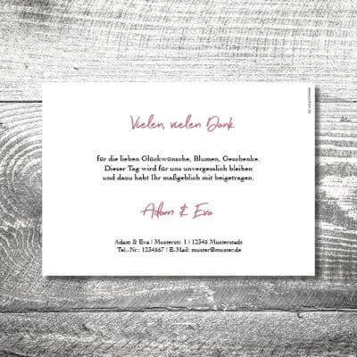 kartlerei karten drucken hochzeitseinladung heiraten dankeskarte floralhirsch 2 400x400 - Danke Floralhirsch | 2-Seitig | ab 0,70 €