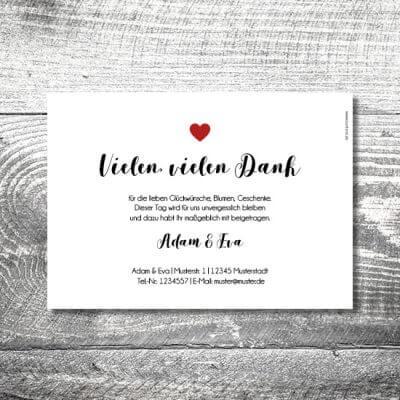 kartlerei karten drucken hochzeitseinladung heiraten dankeskarte fotolove 2 400x400 - Danke Fotolove | 2-Seitig | ab 0,70 €