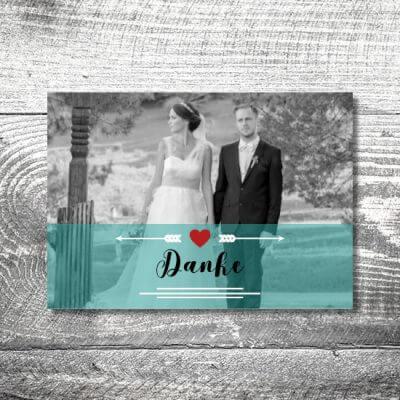kartlerei karten drucken hochzeitseinladung heiraten dankeskarte fotolove 400x400 - Danke Fotolove | 4-Seitig | ab 1,00 €