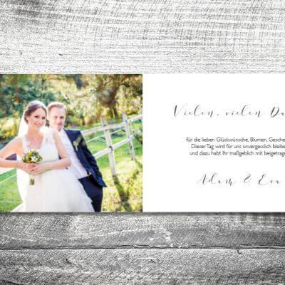 kartlerei karten drucken hochzeitseinladung heiraten dankeskarte hochzeitspaar innen 400x400 - Danke Hochzeitspaar | 4-Seitig | ab 1,00 €