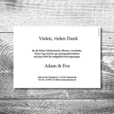 kartlerei karten drucken hochzeitseinladung heiraten dankeskarte wood 2 400x400 - Danke Wood | 2-Seitig | ab 0,70 € (Kopie)