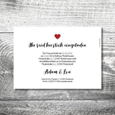 kartlerei karten drucken hochzeitseinladung heiraten einladung fotolove 2 400x400 - Hochzeit Fotolove   2-Seitig    ab 0,70 €