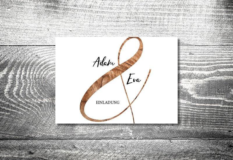 kartlerei karten drucken hochzeitseinladung heiraten einladung wood - Hochzeitskarten Set