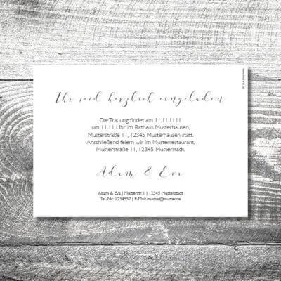 kartlerei karten drucken hochzeitseinladung heiraten hochzeitspaar 2 400x400 - Hochzeit Hochzeitspaar | 2-Seitig  | ab 0,70 €