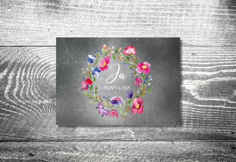 kartlerei karten drucken hochzeitseinladung heiraten save the date bluemchen - Hochzeitskarten Set