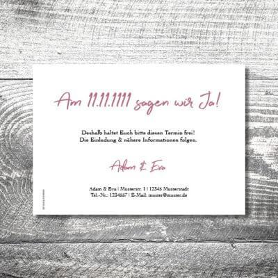 kartlerei karten drucken hochzeitseinladung heiraten save the date floralhirsch 2 400x400 - Save the Date Floralhirsch | 2-Seitig | ab 0,70 €