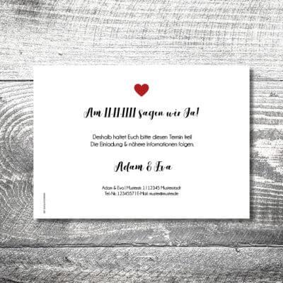 kartlerei karten drucken hochzeitseinladung heiraten save the date fotolove 2 400x400 - Save the Date Fotolove | 2-Seitig | ab 0,70 €