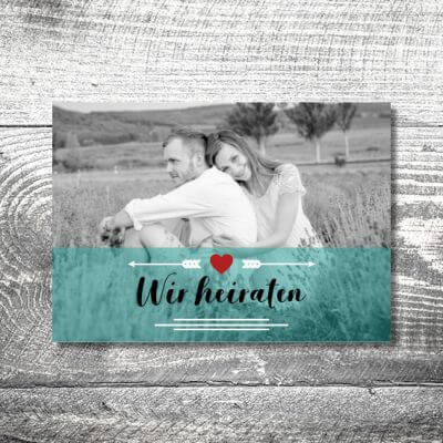 Save the Date Fotolove | 2-Seitig | ab 0,70 €