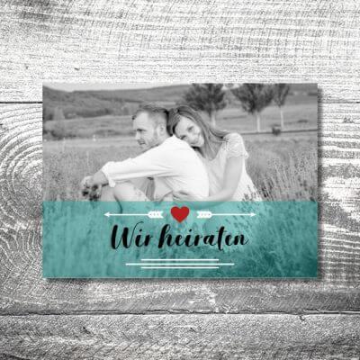 kartlerei karten drucken hochzeitseinladung heiraten save the date fotolove 400x400 - Save the Date Fotolove | 2-Seitig | ab 0,70 €