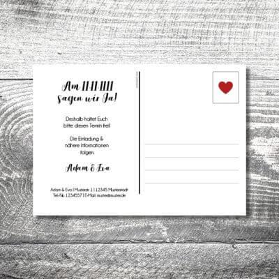 kartlerei karten drucken hochzeitseinladung heiraten save the date fotolove postkarte 400x400 - Save the Date Fotolove Postkarte | 2-Seitig | ab 0,70 €