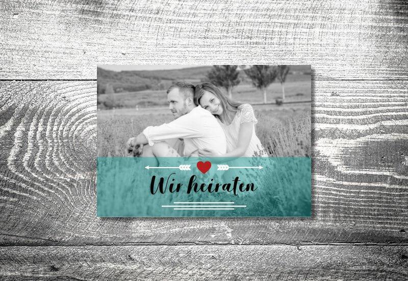 kartlerei karten drucken hochzeitseinladung heiraten save the date fotolove - Hochzeitskarten Set