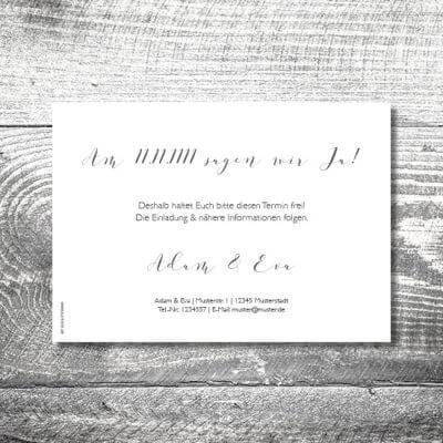 kartlerei karten drucken hochzeitseinladung heiraten save the date hochzeitspaar 2 400x400 - Save the Date Hochzeitspaar | 2-Seitig | ab 0,70 €