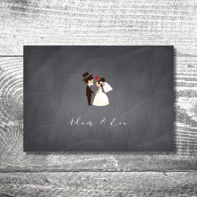 kartlerei karten drucken hochzeitseinladung heiraten save the date hochzeitspaar 400x400 - Save the Date Hochzeitspaar | 2-Seitig | ab 0,70 €