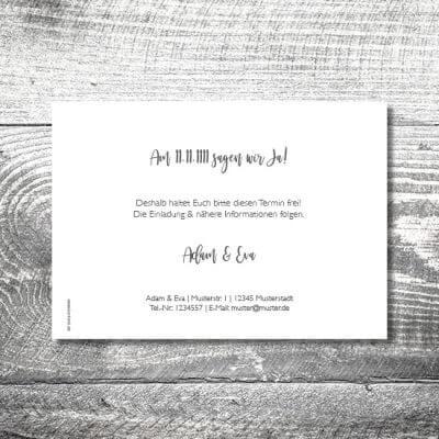 kartlerei karten drucken hochzeitseinladung heiraten save the date silberner hirsch 2 400x400 - Save the Date Silberner Hirsch | 2-Seitig | ab 0,70 €