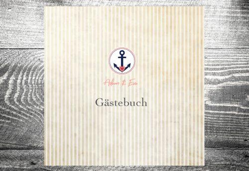 kartlerei karten drucken lassen hochzeitseinladung heiraten hochzeit gaestebuch5 500x344 - Gästebuch Anker | ab 55,00 €