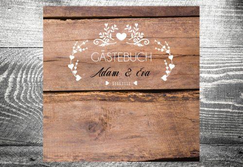 kartlerei karten drucken lassen hochzeitseinladung heiraten hochzeit gaestebuch6 500x344 - Gästebuch Vintageholz | ab 55,00 €