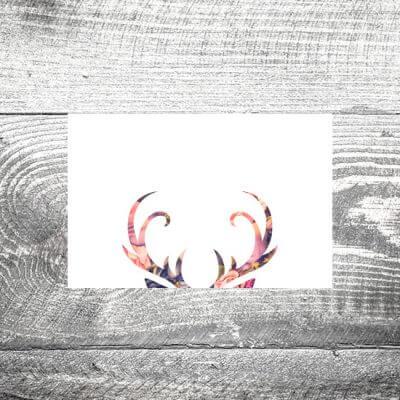 kartlerei tischkarte hochzeit floralhirsch 400x400 - Tischkarte Floralhirsch