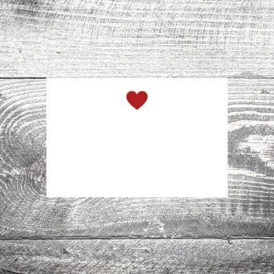 kartlerei tischkarte hochzeit herz 400x400 - Tischkarte Love