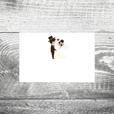 kartlerei tischkarte hochzeit hochzeitspaar 400x400 - Tischkarte Hochzeitspaar