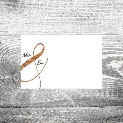 kartlerei tischkarte hochzeit wood 400x400 - Tischkarte Wood
