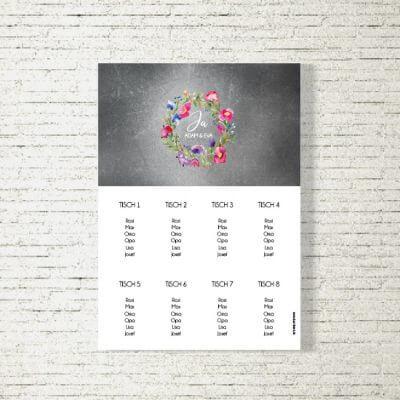tischplan sitzplan hochzeit kartlerei drucken gestalten hochzeitseinladung einladung hochzeit bluemchen 400x400 - Tischplan Hochzeit Blümchen