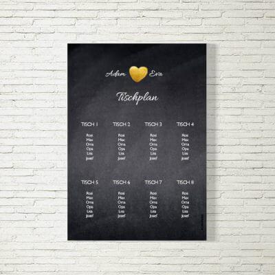 tischplan sitzplan hochzeit kartlerei drucken gestalten hochzeitseinladung einladung hochzeit herzgold 400x400 - Tischplan Hochzeit Herzgold
