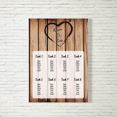 Tischplan Hochzeit Holz
