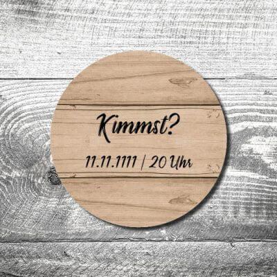Bierdeckel Kimmst Holz