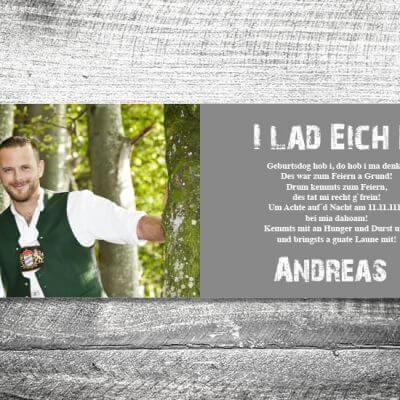 kartlerei karten drucken bayern geburtstagseinladungskarten bayrisch kuh innen 400x400 - Kuh | 4-Seitig | ab 1,00 €