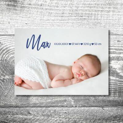 kartlerei karten drucken geburtskarten drucken babykarten bayrisch geburt aquarellherz junge 2  400x400 - Aquarellherz Junge | 2-Seitig | ab 0,70 €
