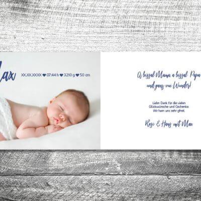 kartlerei karten drucken geburtskarten drucken babykarten bayrisch geburt aquarellherz junge 2 3  400x400 - Aquarellherz Junge | 4-Seitig | ab 1,00 €