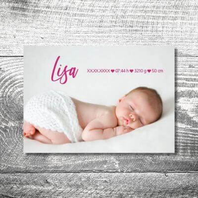 kartlerei karten drucken geburtskarten drucken babykarten bayrisch geburt aquarellherz maedchen 2 400x400 - Aquarellherz Mädchen | 2-Seitig | ab 0,70 €