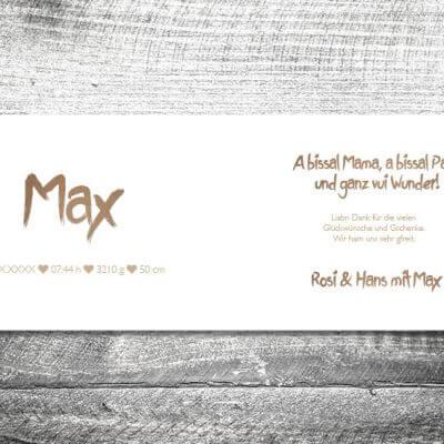 kartlerei karten drucken geburtskarten drucken babykarten bayrisch geburt banderole 2 3 400x400 - Banderole | 4-Seitig | ab 1,00 €